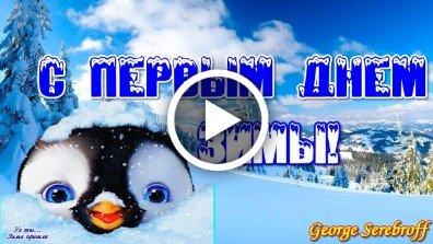 Videootkrytka S Pervym Dnem Zimy Krasivoe Video Pozdravlenie